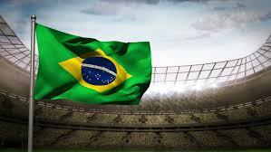 Brazil National Flag Waving On : Video de stock (totalmente libre ...